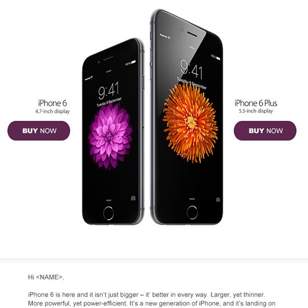 iPhone 6 Launch eDM